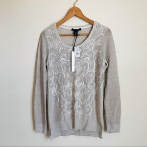 NWT White HOUSE Black MARKET Sweater Top